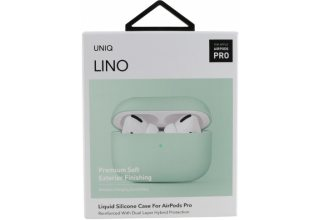 Чехол Uniq для Airpods Pro LINO Liquid silicone Mint green