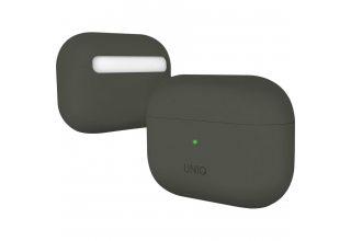 Чехол Uniq для Airpods Pro LINO Liquid silicone Dark grey