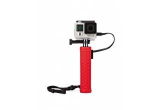 Батарейная рукоятка Joby JB01386-BWW AS6-ORWW  (Action Baterry Grip (красная) для экшн-камер)