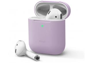 Elago для AirPods Gen 1 & 2 чехол Slim Silicone case Lavender