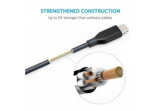 Кабель Anker PowerLine Lightning Cable 1ft Space Gray
