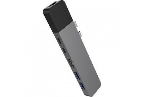 USB Хаб Hyper HyperDrive NET 6-in-2 Hub для USB-C MacBook Pro/Air. Порты: 2 х USB Type-C, 2 x USB 3.