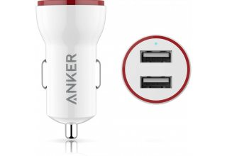 АЗУ Anker PowerDrive 2 24W 2-Port Car Charger (White)