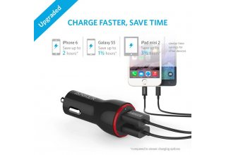АЗУ Anker PowerDrive 2 24W 2-Port Car Charger (Black) A2310G11