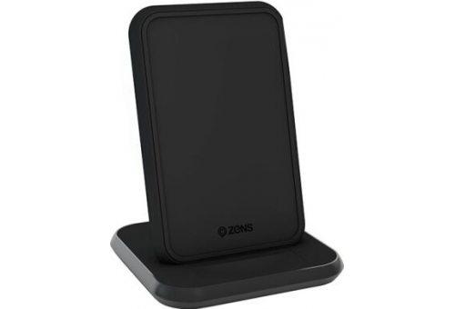 Беспроводное зарядное устройство ZENS Stand Aluminium Wireless Charger. Цвет черный.