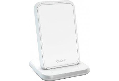 Беспроводное зарядное устройство ZENS Stand Aluminium Wireless Charger. Цвет белый.