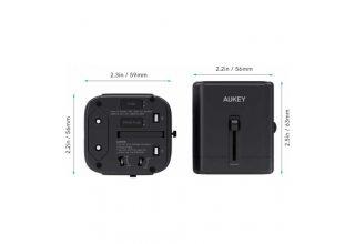 Зарядное устройство AUKEY PA-TA01 Universal Travel Adapter With USB-C and USB-A Ports
