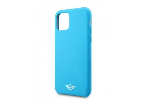 Чехол MINI для iPhone 11 Pro Liquid silicone Hard Blue