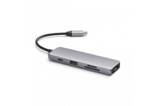 USB-хаб Satechi USB-C Multiport Pro для Macbook с портом USB-C. Порты: 1 x USB 3.0, SD, microSD, 1 x