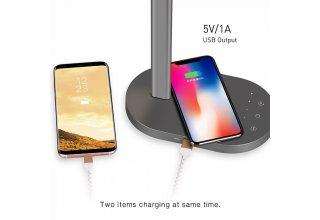 Лампа Momax Q.LED Desk lamp with wireless charging bas (с адаптером)